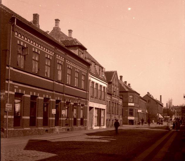 Jernbanegade Hjørring 1900-1910