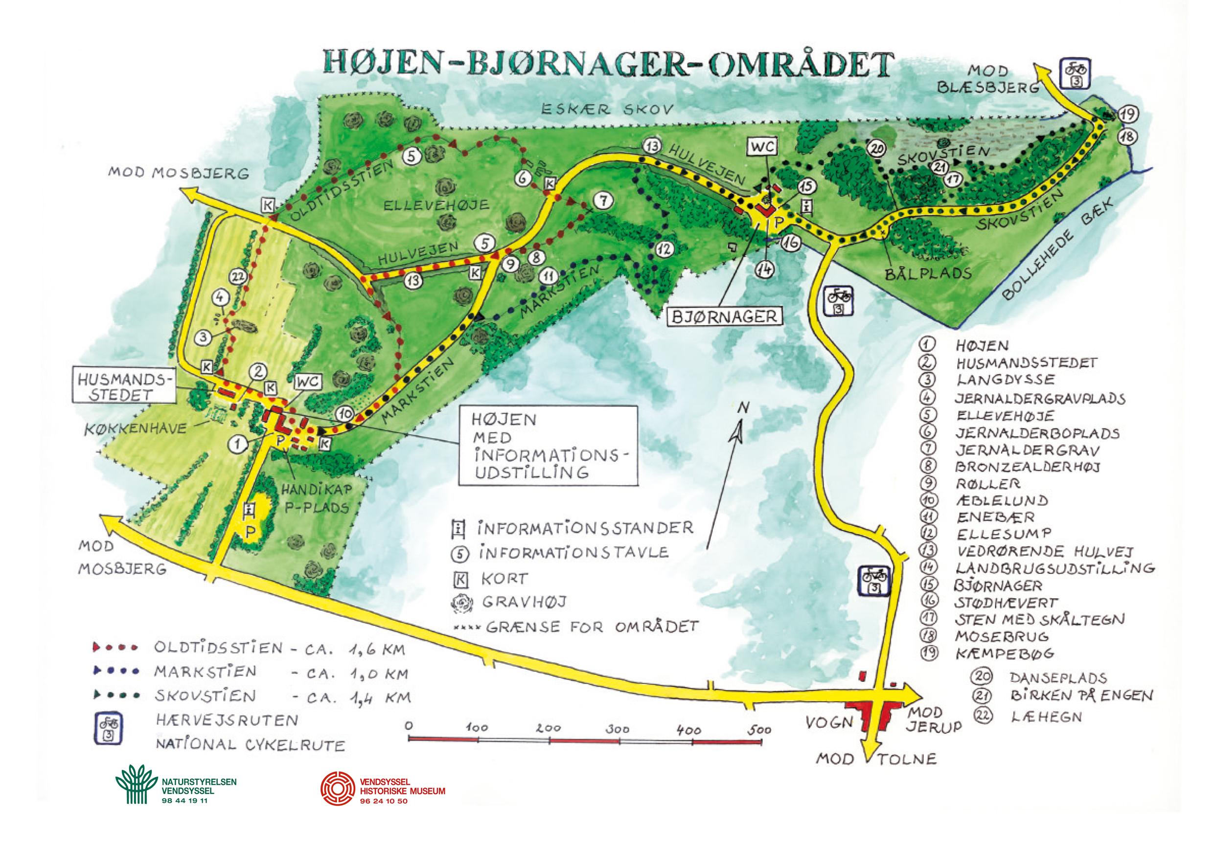 Landskabs og landbrugsmuseet i Mosbjerg Kort Oversigt