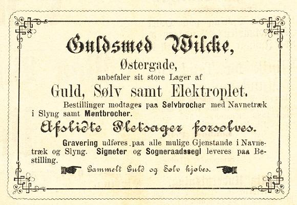 Wilche Annonce VT 27-12 1882
