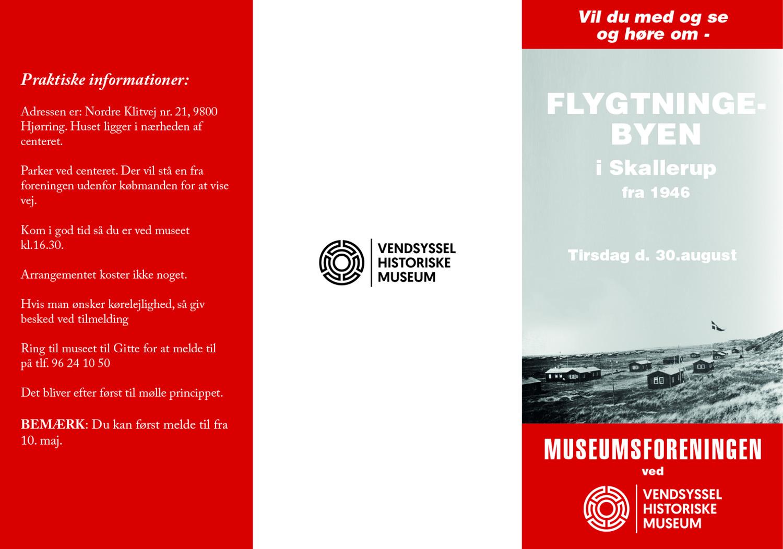 Invitation til Flygtningebyen Skallerup 2016 Museumsforeningen 1