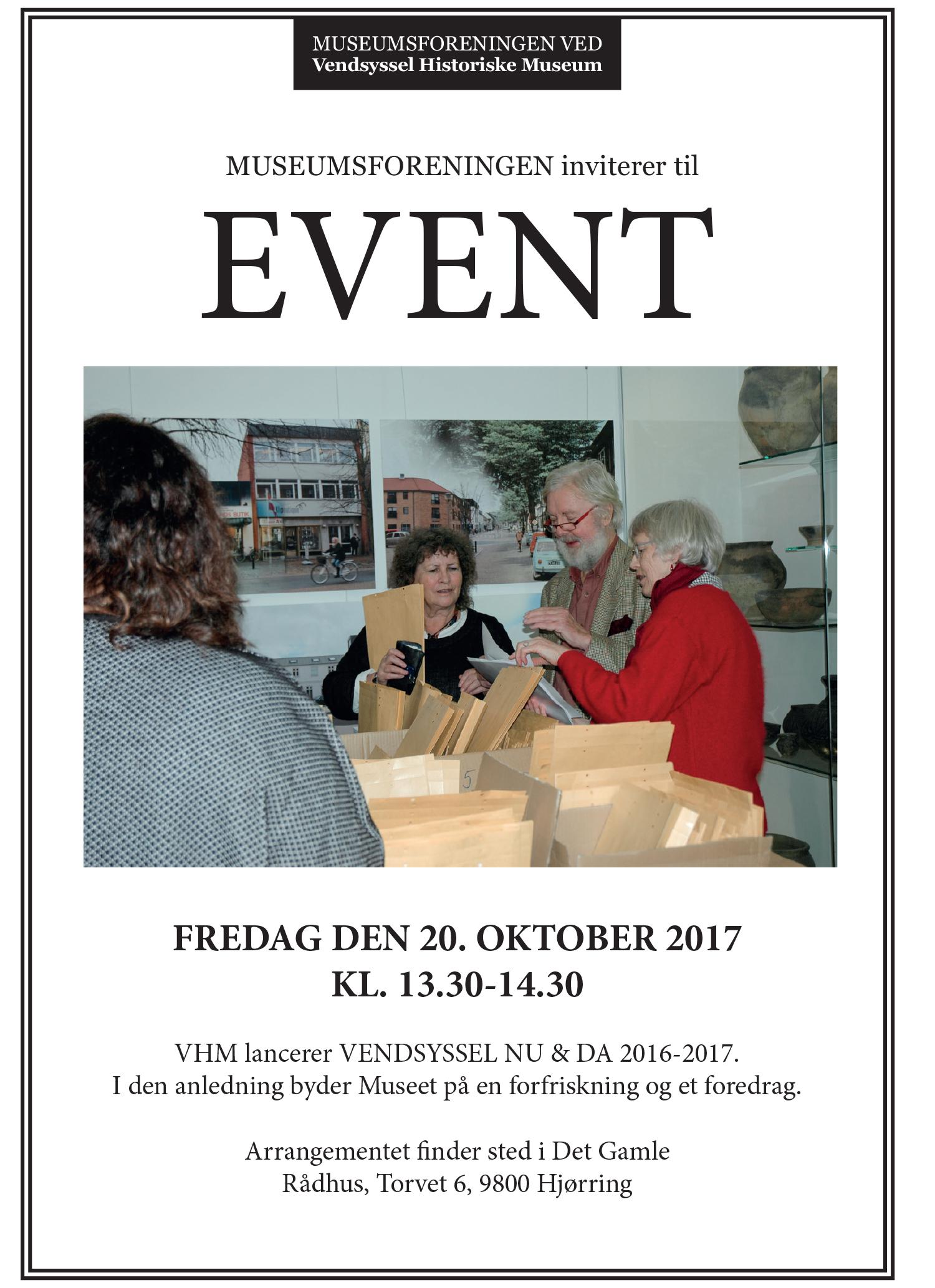 Invitation til Museumsforeningen - Lancering af Vendsyssel Nu og